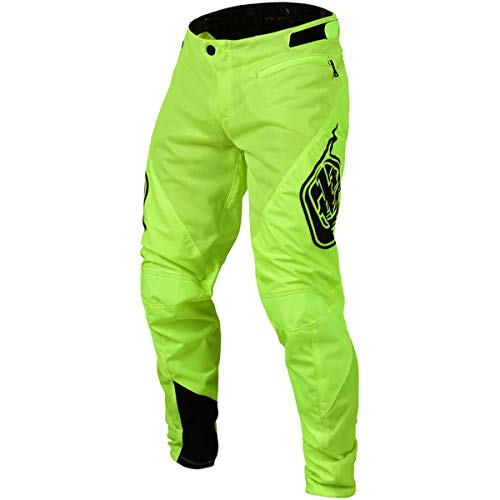 (Troy Lee Designs Sprint Solid Youth Off-Road BMX Cycling Pants - Flo Yellow / 22)
