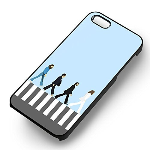 Abbey Road The Beatles pour Coque Iphone 6 et Coque Iphone 6s Case (Noir Boîtier en plastique dur) J9K7LV
