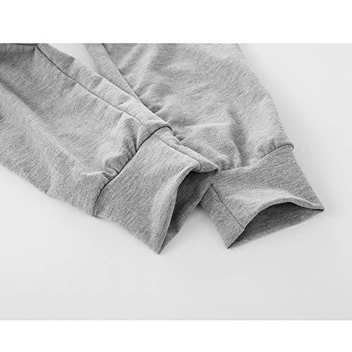 Venta Overdose Linda Las Sudadera pantalones Capucha gris Cálida xwRXWUTqY