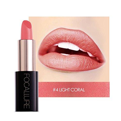 YOYORI Women Lipstick,20 Colors Optional Ladies Beauty Lip Long-lasting Velvet Matte Lipstick Waterproof Lip Gloss Makeup Girls Sexy Charming Long-lasting Non-fading Makeup Best Gift On Your Lips (D)