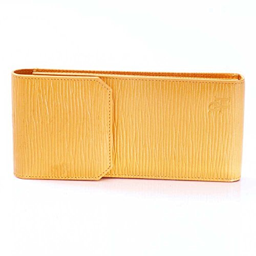 David Hampton Women's Luxury Leather Glasses Case Straw