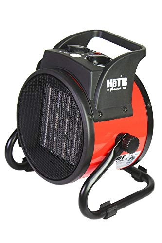 HeTR Portable Space Heater 1500 Watt Forced Air Heater with Ceramic Heater Element and Overheat Protection for Office Home Garage Workshop, ETL Listed