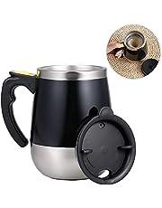 كوب قهوة من Phomnd ذاتي التقليب 400 مل من الفولاذ المقاوم للصدأ ذاتي المزج بالدوران المنزلي والمكتب والسفر خلاط كوب