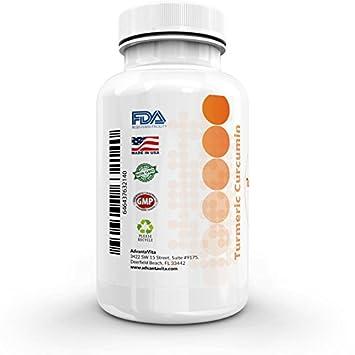 AdvantaVita Turmeric Curcumin with BioPerine – High Potency, High Absorption – Organic Complex, Additive Free – Natural Pain Relief – Joint Support – Anti-Inflammatory – 120 x 500mg Veggie Capsules