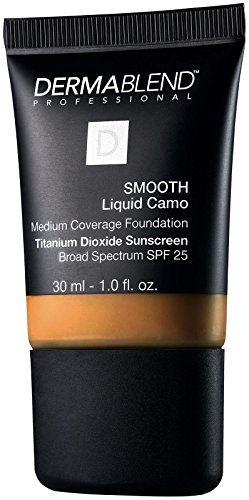 Dermablend Smooth Liquid Foundation Makeup with SPF 25 for Medium to Full Coverage, 65n Café, 1 Fl. Oz.