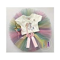 Set de Unicornio para niña/Tuttu/Falda/diadema de Unicornio/Conjunto de Ropita para niña/Set de Falda, pañalero, tirantes y bandita/Juego de Ropa para niña
