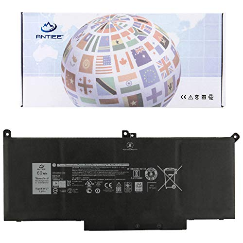 ANTIEE Compatible F3YGT Laptop Battery Replacement for Dell Latitude 7380 E7280 E7480 Latitude 12 7000 7280 7480 Series Notebook 7.6V 60Wh 0DM3WC DM3WC 2X39G ()