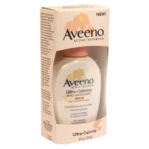 - Aveeno Active Naturals Ultra-Calming Daily Moisturizer SPF-15, UVA/UVB Sunscreen, 4-Ounce Bottles (Pack of 2)