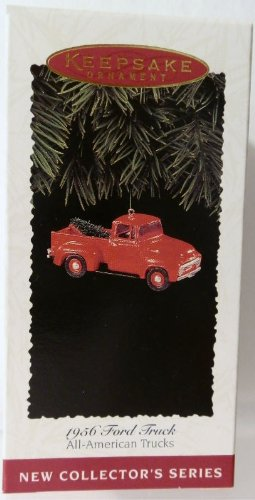 All-American Trucks 1956 Ford 1st in Series 1995 Hallmark Keepsake Ornament QX5527 (1956 Ford Truck)