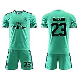 LSY Madrid Accueil Adultes Et Enfants Football Maillots Garçons Football Porter Chemises T-Shirt Court Parent-Enfant Uniformes De Formation Sweatshirts Et Shorts,GreenNO.23,S