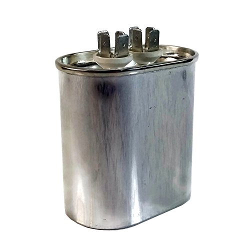 Midwest Hearth Motor Run Capacitor Single MFD Dual Voltage 370/440 Volts (Oval, 7.5 MFD)