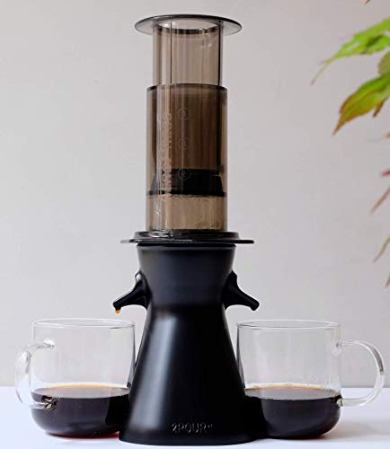 2POUR The New Dual Press Accessory for The Aeropress Coffee Maker, Delter Coffee Press or Pourover