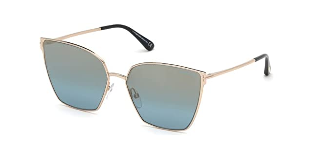 Tom Ford Gafas de Sol HELENA FT 0653 ROSE GOLD/BLUE mujer ...