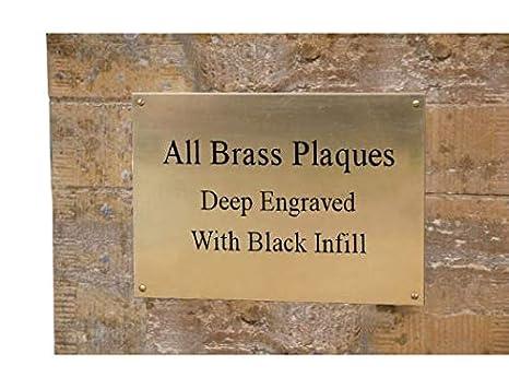 Prime Personalised Solid Brass Plaque Memorial Bench Sign Plate Deep 4 X 2 Engraved Inzonedesignstudio Interior Chair Design Inzonedesignstudiocom