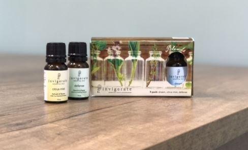 3 - PackのさまざまなInvigorate Essential Oils : Dream , Citrus Mist、&ディフェンス B06XD19ZFJ 3-pack Variety of Invigorate Essential Oils: Dream, Citrus Mist, & Defense + Car Essential Oil Diffuser