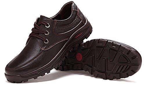 lacci Brown scarpe uomo da in piatto Athletic casual Fangsto pelle WqR8vn6
