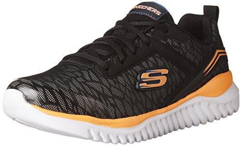 Skechers Kids Boys' Turboshift Sneaker,black/orange,13 Medium US Little ()