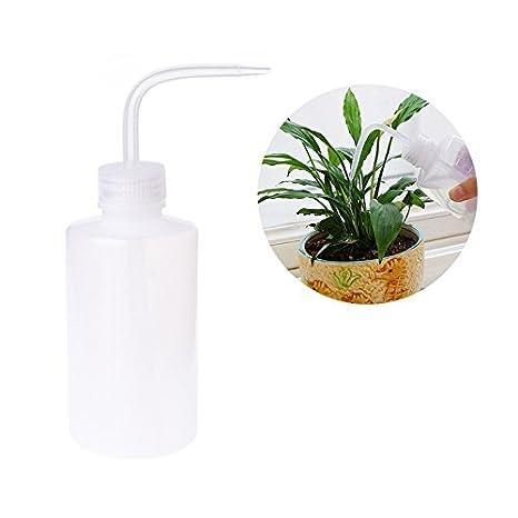 LANDUM Botella de riego Barata Planta Agua Lata Boquilla Curva Plástico Squeeze Tipo 250 ML: Amazon.es: Hogar