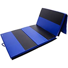 """Soozier 6' x 4' x 2"""" PU Leather Folding Gymnastics Tumbling / Martial Arts Mat with Handles"""