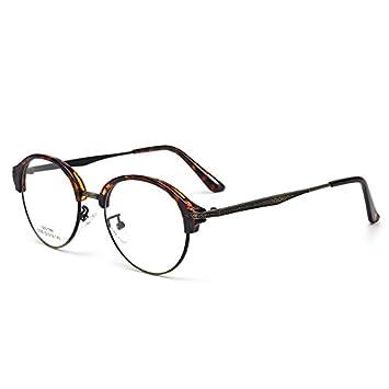 GCR Sonnenbrille Schatten Polarisierende Brille Vintage Brille Rahmen Schön Gemusterten Halb-Metall Flachen Spiegel , C2