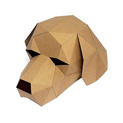 (succeedtop Cat Mask, Monkey Mask, Labrador Mask, Gorilla Mask, Panda Mask,Handmade DIY Free Cut 3D Stereo Animal Mask Prom Party Headgear Paper Model Costume Cosplay Mask for)