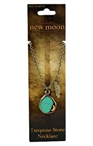"""Twilight """"New Moon"""" Antique Brass Necklace (New Moon Turquoise stone)"""