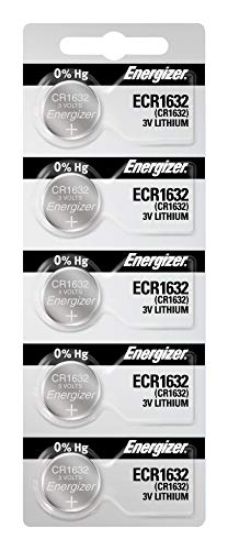 - Energizer CR1632 3V Lithium Coin Battery (Pack of 5)