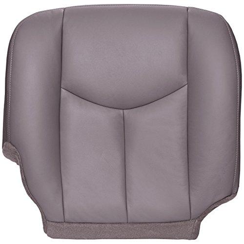 The Seat Shop Passenger Bottom Replacement Seat Cover - Medium Dark Pewter (Gray) Leather (Compatible with 2003-2006 Chevrolet Tahoe, Suburban, Silverado, and GMC Yukon, Yukon XL, Sierra)