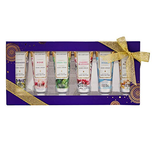 Spa-Luxetique-Shea-Butter-Hand-Cream-Gift-Set-6-30ml-Mini-Hand-Cream-Travel-Gift-Set-Moisturizing-Hand-Cream-for-Dry-Hands-with-Natural-Aloe-and-Vitamin-E-Premium-Gift-Sets-for-Women-or-Her