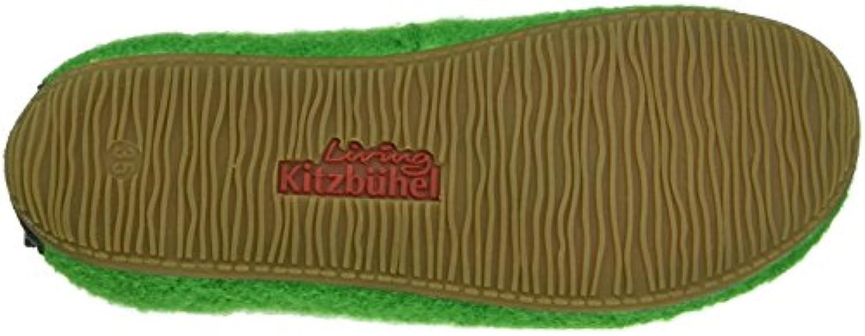 Living Kitzbuhel Boys Chelsea Boot Hi-Top Slippers, Green (Emerald 441), 1 Child UK 33 EU