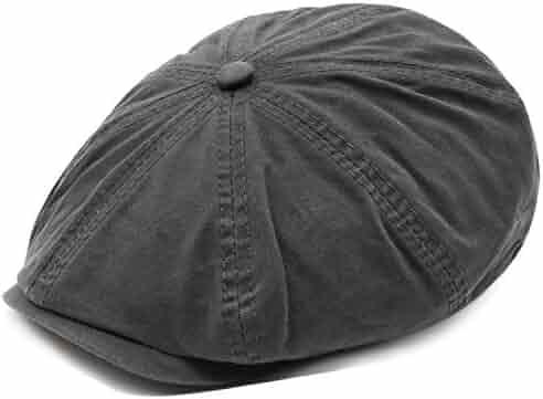 6b2552bd Men's Cotton Newsboy Flat Ivy Gatsby Caps Vintage Classic 8 Pannel Retro  Cabbie Octagonal Hat