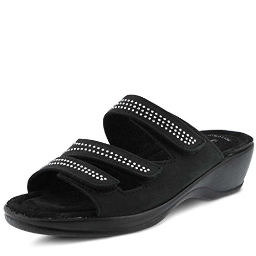Chela Flexus Sandal Essentials Slide Womens Black apqpR