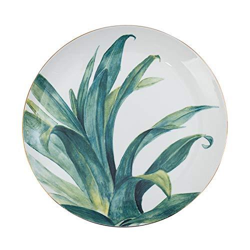Phnom Penh dish plate 8 inch household breakfast tableware simple bone china plate creative ceramic plate green ()