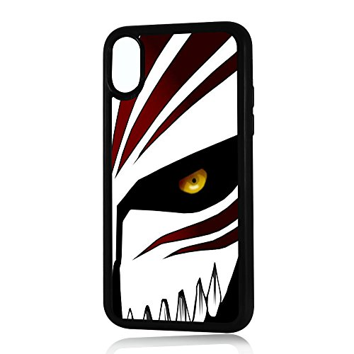 ( For iPhone X ) Durable Protective Soft Back Case Phone Cover - A11075 Bleach Ichigo Hollow Mask