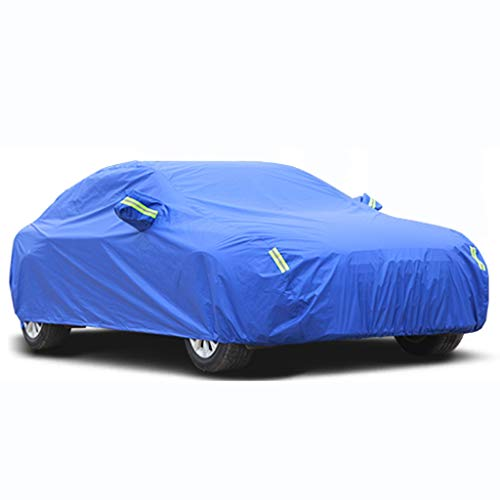 Compatible with Audi RS 7 All-Weather Car Cover Sun Protection Snowproof Waterproof Car Tarpaulin Portable Car Accessories (Size : Blue)