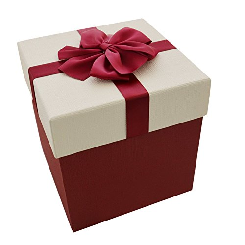 Drasawee Elegant Square Gift Wrap Box for Xmas Birthday Wedding Festival Gift 5X5X6