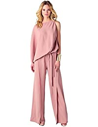 4cc4cc71ada8 Women Sexy Womens Jumpsuits Elegant Button Loose Long Wide Leg Jumpsuits  Romper