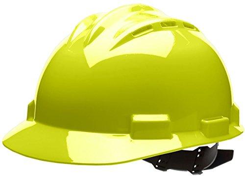 - Bullard 62HYV Standard Series Vented Cap Style Hard Hat, 4 Point Pin Lock Suspension, Vinyl Brow Pad, Hi-Viz Yellow, One Size