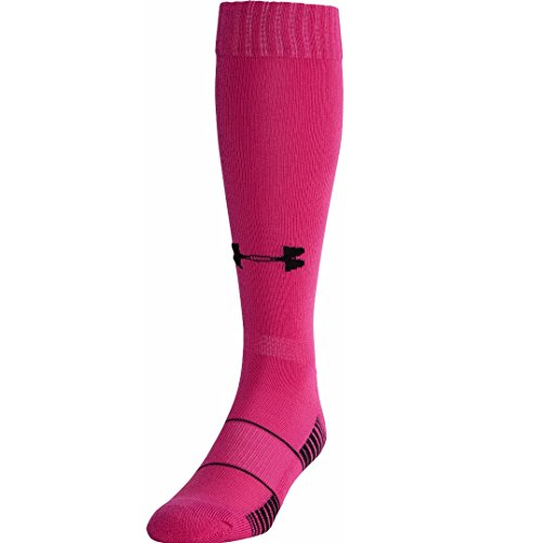 (Under Armour UA Over-The-Calf Team Socks (LG 10-13 (Men's Shoe 9-12.5), Tropical Pink)