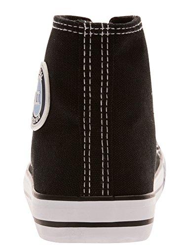 oodji Ultra Mujer Zapatillas de Algodón Altas Negro (2910B)