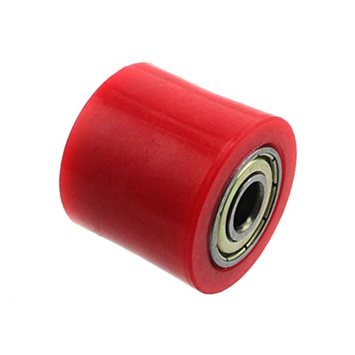 XLJOY 5 pcs 8mm Rubber Chain Roller Wheel Tensioner Pulley For Chinese Pit Dirt Bike 50cc-160cc(Red) by XLJOY (Image #6)