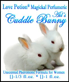 Amour POTION®: Cuddle lapin ~ non parfumé mélange de phéromones pour les femmes - 1/3 fl.oz.