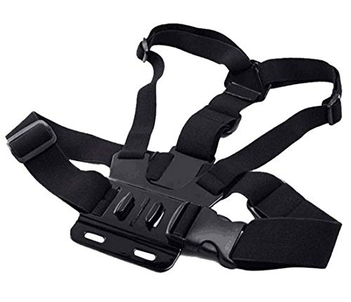 KENGEL Adjustable Chest Harness Mount J Hook Mount Compatible Gopro Hero 6 5/AKASO/Apeman/DBPOWER/WIMIUS/Lightdow/SOOCOO 4k Action Sports Outdoor Cameras Accessories (Camera Not Included)
