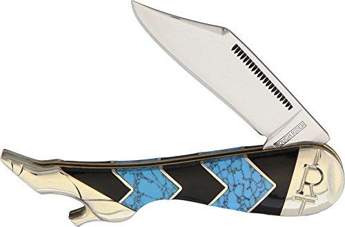 Rough Leg Rider (Rough Rider Leg Knife Turquoise Peak RR1575)