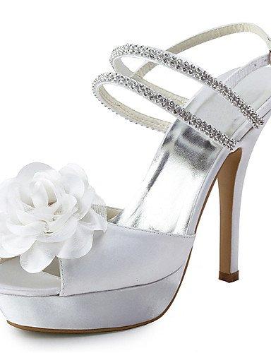 GGX/ Damenschuhe Seide Stilettferse Fersen / Peep Toe Heels Hochzeit / Party&Abend / Kleid weiß white-us5.5 / eu36 / uk3.5 / cn35