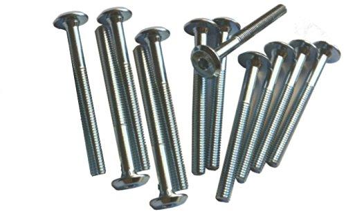 1 docena (12 piezas) cuna tornillo de muebles Tornillo Tornillo Allen SW4 6 mm M6 x 60mm Diabolonet M6X60