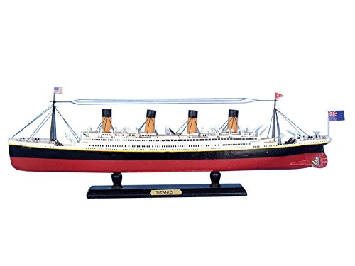 Handcrafted Model Ships Titanic-Limited-15 RMS Titanic Limited 15 in. Decorative Cruise - Built Model Pre