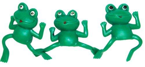 Fun Express Educational Products - Vinyl Frog Finger Puppets (6 dz) - 6 Dozen