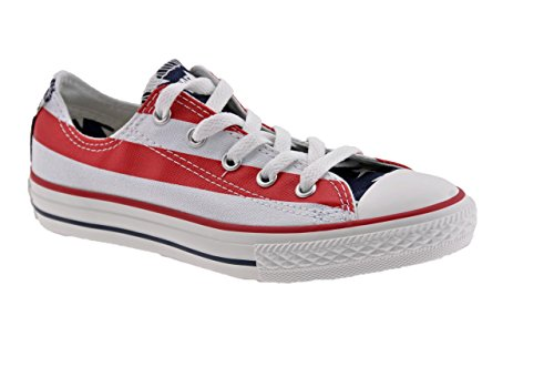 Basse Vintage Bianco blu Flag Sportive rosso Converse Usa Jr Low N 4RxFqZ