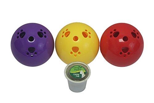 Multipet 20575 Assorted Colors Catnip Garden Kitty Sprinkles Ball